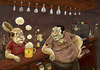 Cartoon: A few drunk men in the bar (small) by gunberk tagged drunk,daytime,drinking