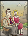 Cartoon: lovers (small) by gunberk tagged lovers,relationship,slayer,love