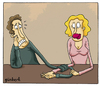 Cartoon: relationships (small) by gunberk tagged relationships,love,womens,men