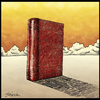 Cartoon: shadow of words (small) by gunberk tagged literature,words,book,heavy,shadow