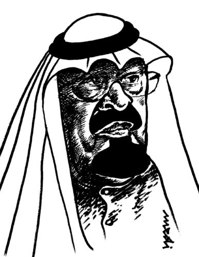 Cartoon: Crown Prince Abdullah (medium) by Medi Belortaja tagged abdullah,prince,crown
