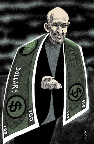 Cartoon: hamid karzai (medium) by Medi Belortaja tagged karzai,hamid,afghanistan