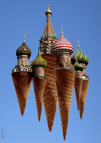 Cartoon: putin ice creams (medium) by Medi Belortaja tagged putin,ice,creams,kremlin,russia