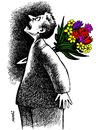 Cartoon: a bunch of flowers (small) by Medi Belortaja tagged bunch,flowers,murder,killed,kill,infidelity,knife