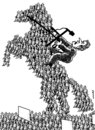Cartoon: angry horse (small) by Medi Belortaja tagged angry,horse,people,peoples,revolt,democracy,dictatorship,leader,politics