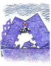 Cartoon: love after earthquake (small) by Medi Belortaja tagged love lovers kiss earthquake