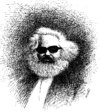 Cartoon: Marx (small) by Medi Belortaja tagged carl,marx