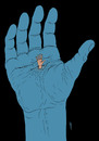 Cartoon: superstition (small) by Medi Belortaja tagged superstition,hand,water