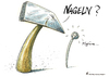 Cartoon: Nageln (small) by Riemann tagged beziehung,drama,sex,werkzeug,handwerker,cartoon,george,riemann