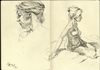 Cartoon: Moleskine Studies (small) by halltoons tagged female,girl,model,figure,drawing,sketch,pen