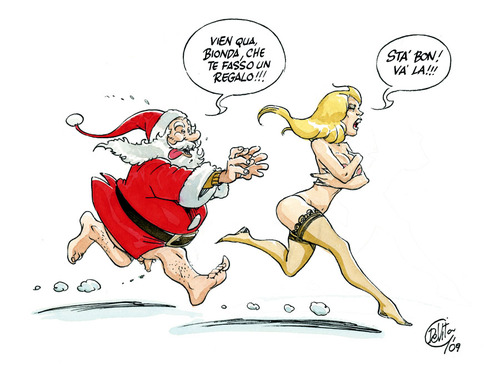 Cartoon: Santa Claus present (medium) by giuliodevita tagged santa,claus