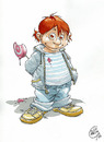 Cartoon: Bambino Gio (small) by giuliodevita tagged bambino,child,leccalecca