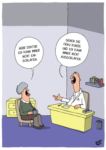 Cartoon: Schlafprobleme (medium) by luftzone tagged thomas,luft,cartoon,lustig,schlafprobleme,arzt,patient,patientin,thomas,luft,cartoon,lustig,schlafprobleme,arzt,patient,patientin