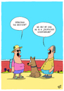 Cartoon: Deutsch (small) by luftzone tagged thomas,luft,cartoon,lustig,tourist,urlaub,deutsch,hund,schäferhund,sprache,mann,frau