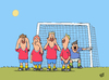 Cartoon: Mauer (small) by luftzone tagged thomas,luft,cartoon,lustig,mauer,fußball,wm,sport,abwehr