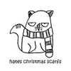 Cartoon: One Cats Thoughts (small) by DebsLeigh tagged cat,kitty,feline,thoughts,christmas,cute