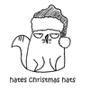 Cartoon: One Cats Thoughts (small) by DebsLeigh tagged cat,cartoon,feline,animal,christmas,hat,cute