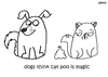 Cartoon: One Cats Thoughts (small) by DebsLeigh tagged cat,kitty,thoughts,feline,dog,poop,poo,animal
