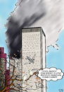 Cartoon: 911 (small) by A Tale tagged qaida,al,laden,bin,terrorismus,center,trade,world,11,september,york,new