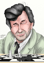 Cartoon: Peter Falk (small) by A Tale tagged peter,falk,geboren,september,1927,gestorben,2011,90,jahre,schauspieler,usa,amerika,hollywood,filme,inspektor,columbo,serie,krimi,ermittler,polizist,schrullig,schlau,unterschätzt,schach,schachmatt,setzen,portraet,karikatur,caricature,portrait,illustration,cartoon,tale,agostino,natale