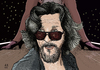 Cartoon: The Dude (small) by A Tale tagged jeff bridges dude big lebowski film movie coen brothers schauspieler actor portrait