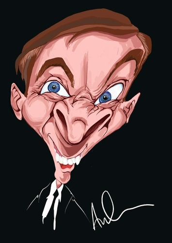 Cartoon: Kenneth Williams (medium) by Andyp57 tagged caricature,wacom,painter