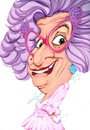 Cartoon: Dame Edna (small) by Andyp57 tagged caricature,gouache,andyp57