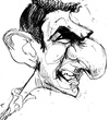 Cartoon: Eric Cantona (small) by Andyp57 tagged caricature,pen