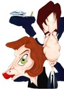 Cartoon: Mulder and Scully (small) by Andyp57 tagged caricature,gouache