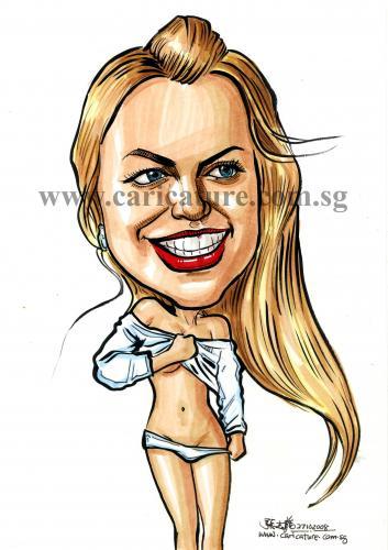 cartoon caricature. Cartoon: Caricature of Britney