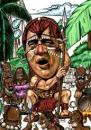 Cartoon: Caricature of Jackie Chan (small) by jit tagged caricature jackie chan red indian