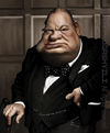 Cartoon: Winston Cherchill (small) by besikdug tagged winston,cherchill,besikdug,caricature,best
