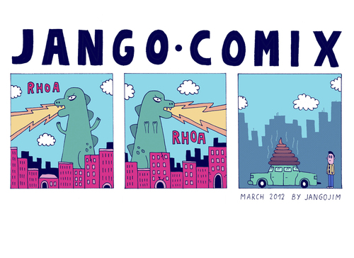 Cartoon: JANGO COMIX - MONSTER TURD (medium) by jangojim tagged monster,godzilla,jangojim,jango,comix,fire,city,disaster,destruction,poo,poop,turd,shit,scheisse,metropolis