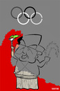 Cartoon: Beijing 2008 (small) by Xavi Caricatura tagged beijing,2008,olympic,games,china,pekin,olimpia,fume,smoke
