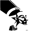 Cartoon: Nefertiti (small) by Xavi Caricatura tagged nefertiti egypt pharaon history empire