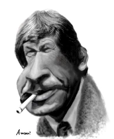 Charles Bronson, caricaturas y dibujos