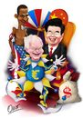 Cartoon: King Hu Jintao (small) by riva tagged hu,jintao,herman,van,rompuy,barak,obama,euro,dolar,china,usa,eu