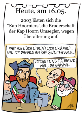 Cartoon: 16. Mai (medium) by chronicartoons tagged kap,hoorn,seefahrt,da,gamma,matrose,cartoon