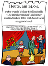 Cartoon: 14. April (small) by chronicartoons tagged oscar,film,grass,schlöndorff,blechtrommel,buch,cartoon
