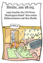 Cartoon: 18.März (small) by chronicartoons tagged remmington,rasierer,rasierapparat,cartoon