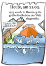 Cartoon: 21. März (small) by chronicartoons tagged hubbrücke schiff fluss moses