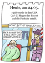 Cartoon: 24. Mai (small) by chronicartoons tagged parkuhr,gangster,friseur,cartoon