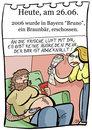 Cartoon: 26. Juni (small) by chronicartoons tagged bruno,bär,waffe,dick,couchpotato