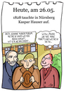 Cartoon: 26. Mai (small) by chronicartoons tagged kaspar,hauser,findelkind,cartoon