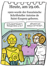 Cartoon: 29. Juni (small) by chronicartoons tagged exupery,c3po,starwars,leia,prinz,cartoon