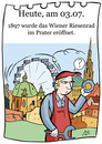 Cartoon: 3. Juli (small) by chronicartoons tagged wien,prater,riesenrad,cartoon
