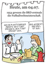 Cartoon: 4. Juli (small) by chronicartoons tagged fußball,wm,herbert,zimmermann,turek,rahn,walter,bern,cartoon