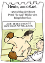 Cartoon: 8. Jun (small) by chronicartoons tagged boxen boxkampf aap ringrichter ko cartoon