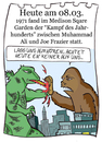 Cartoon: 8. März (small) by chronicartoons tagged ali,frazier,boxkampf,godzilla,cartoon