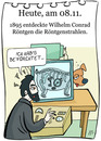 Cartoon: 8. November (small) by chronicartoons tagged xray,röntgen,röntgenstrahlen,cartoon